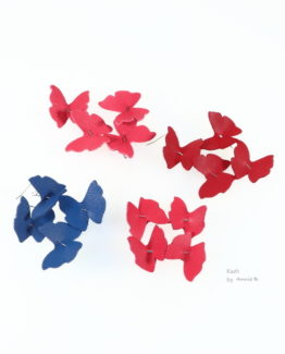 Collection Papillons de Kazh By Annie B. coloris Boucles d'oreilles