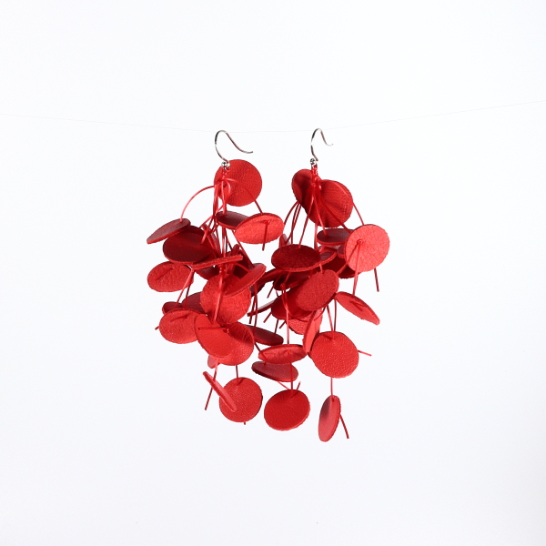 Grandes boucles d'oreilles Glycine orange